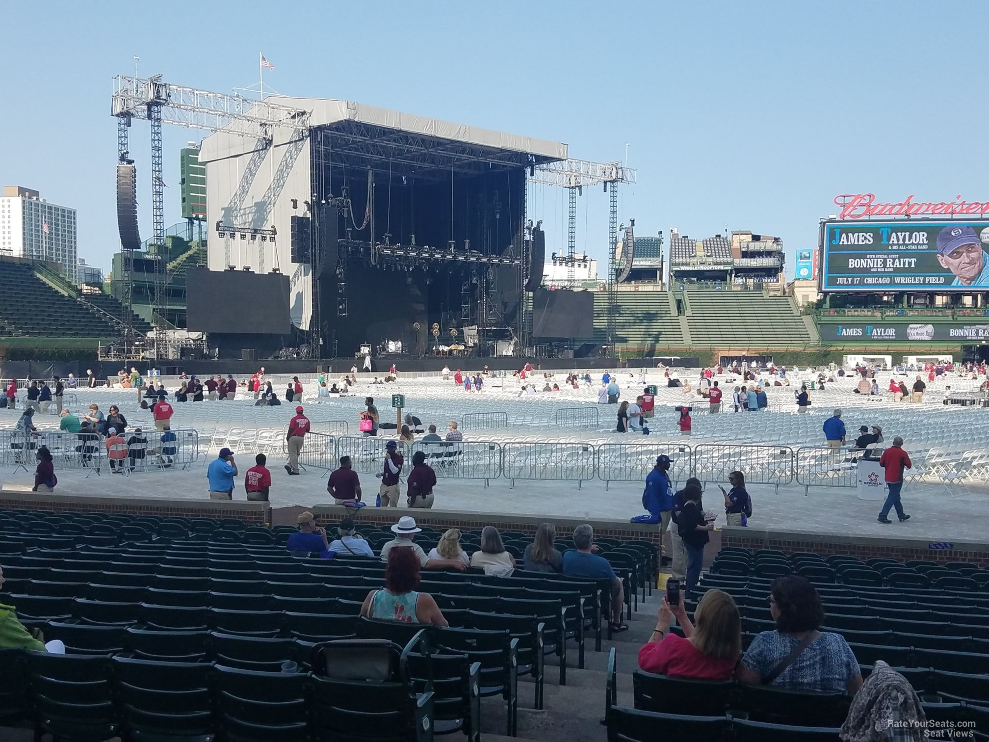 Wrigley Field Section 109 Concert Seating - RateYourSeats.com