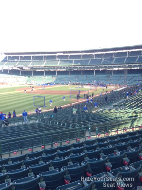 wrigley field section 202 chicago cubs rateyourseatscom