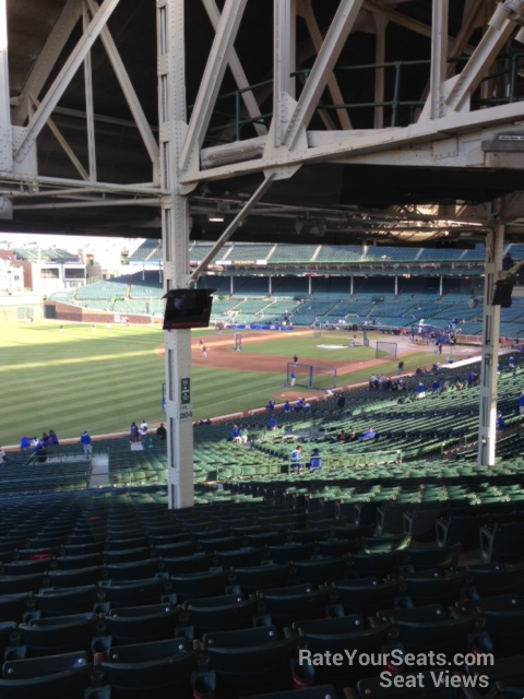 wrigley field section 204 chicago cubs rateyourseatscom