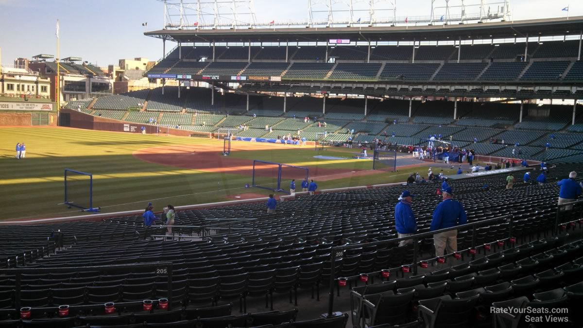 Wrigley Field Section 205 - Chicago Cubs - RateYourSeats.com