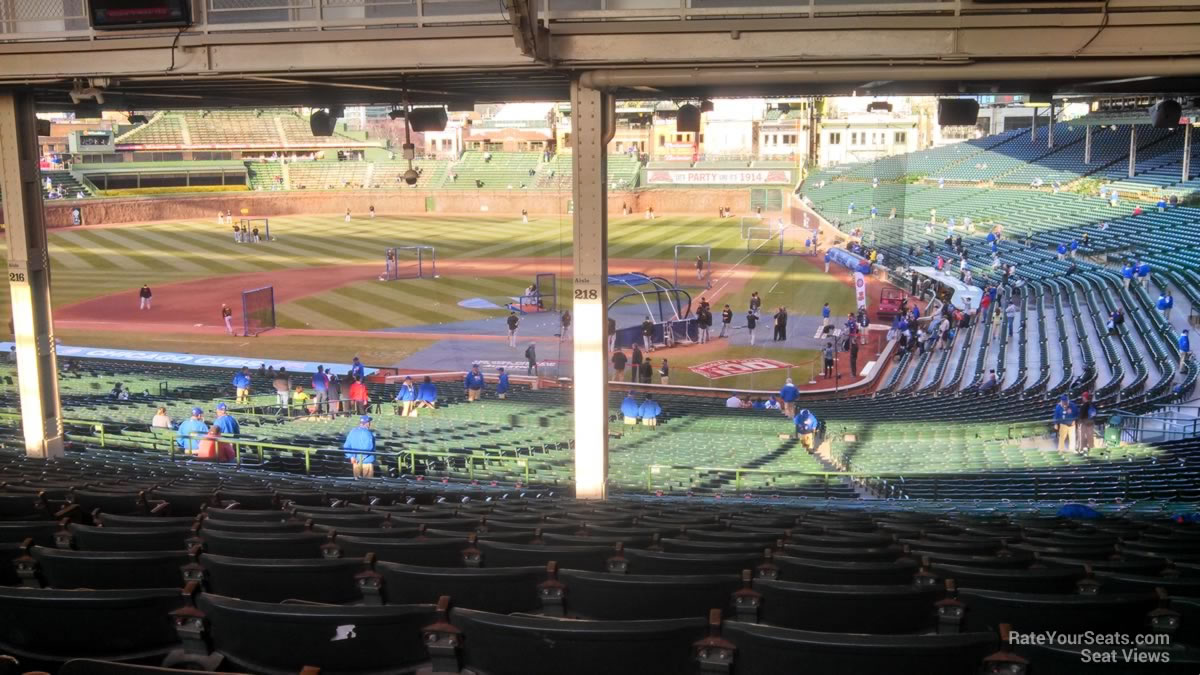 Wrigley Field Section 218 - Chicago Cubs - RateYourSeats.com