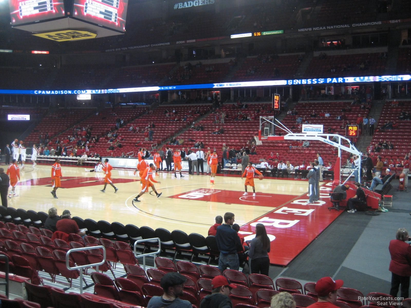 Kohl Center Section 106 Seat View