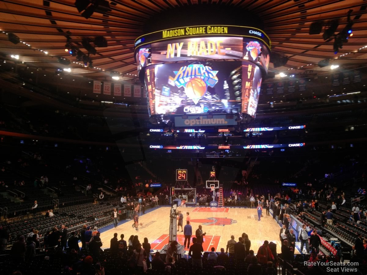 Madison Square Garden Section 102 New York Knicks