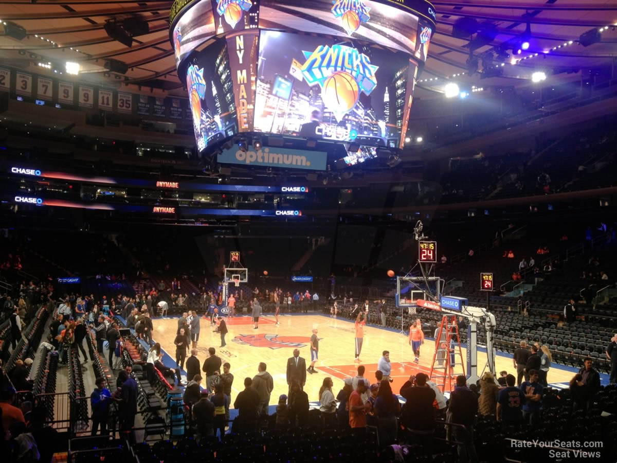 Madison Square Garden Section 110 New York Knicks