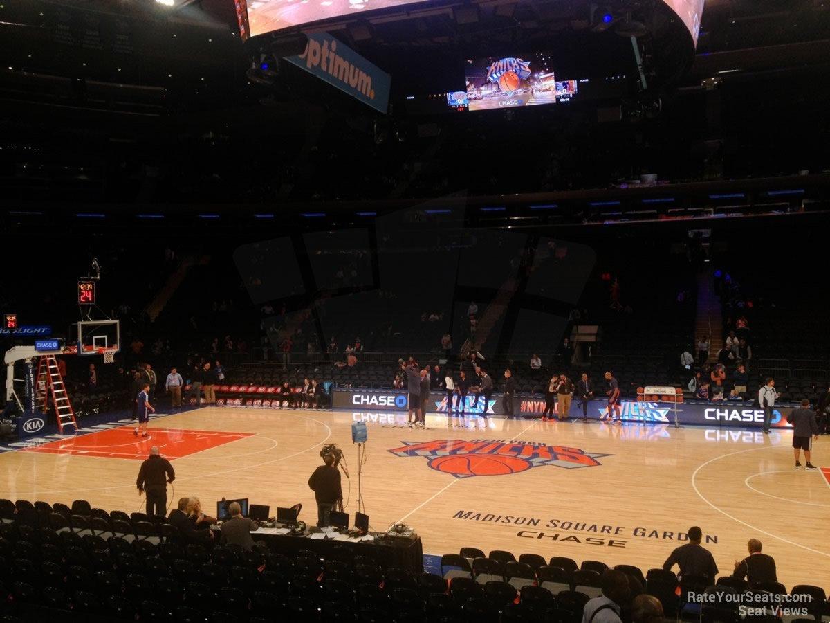 Madison Square Garden Section 117 New York Knicks