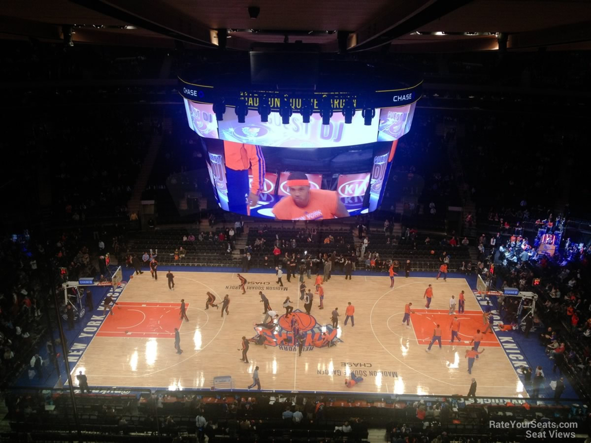 Madison Square Garden: Photos From The New Chase Bridge Seats At A Knicks Game
