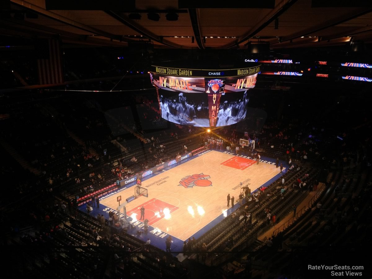 Madison Square Garden Section 324 New York Knicks