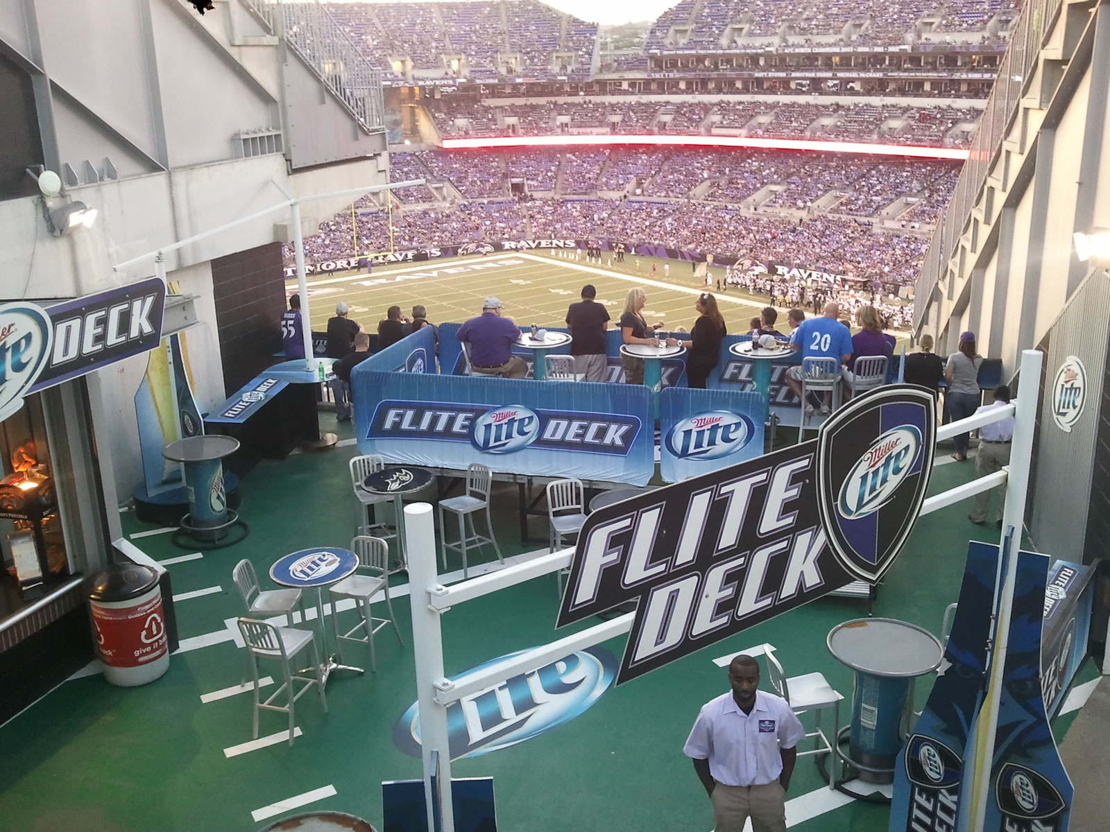 Baltimore ravens seating guide m t bank stadium for Restaurants m t bank stadium