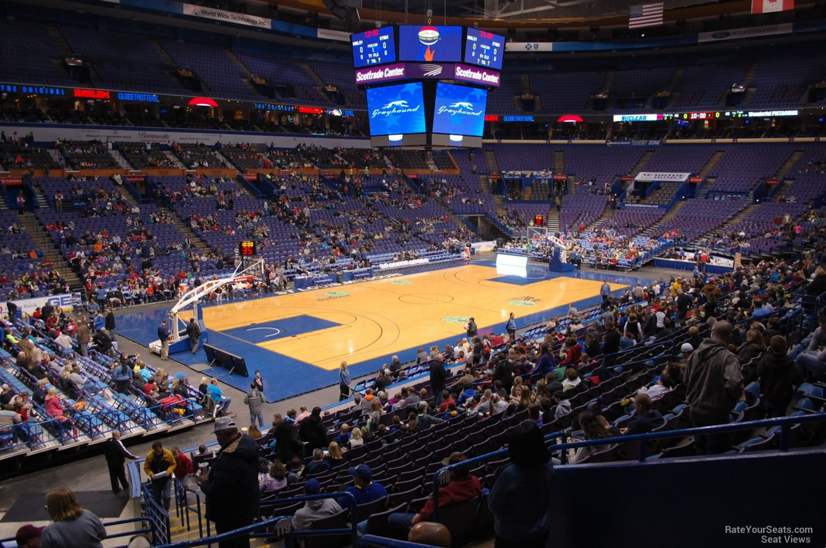 Scottrade Center Section 119 Basketball Seating