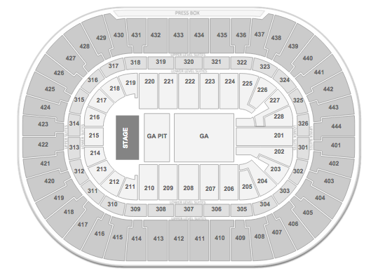 BIGBANG Honda Center Anaheim Seating Chart