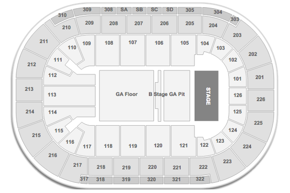 BIGBANG Mandalay Bay Events Center Seating Chart