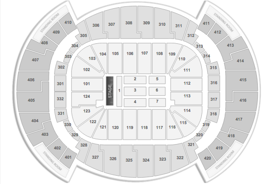 Ed Sheeran Seating chart americanairlines arena