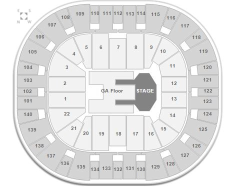 Imagine Dragons EnergySolutions Arena Seating Chart