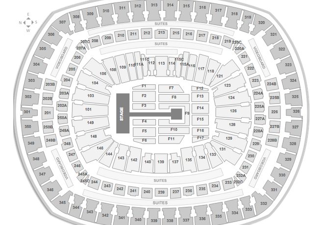 Metlife Stadium Floor Plan: One Direction Tickets And Seating Charts
