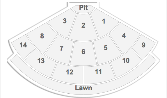 Rush Verizon Wireless Ampitheatre Seating Chart
