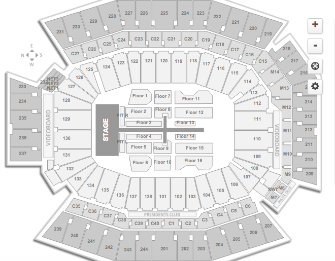 Taylor Swift Lincoln Financial Field Seating Chart