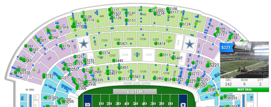 RateYorSeats.com interactive ticket map