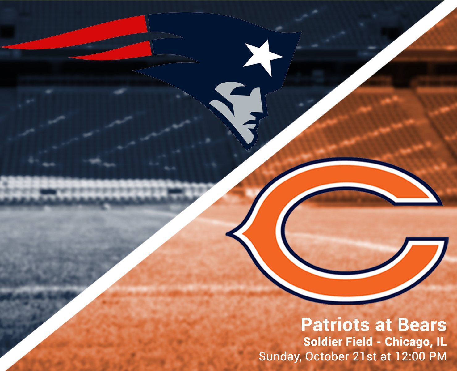 Image result for Patriots vs. Bears