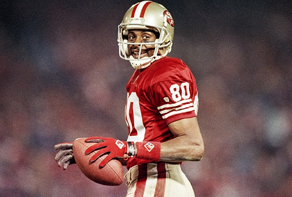 former wide receiver for the san francisco 49ers jerry rice