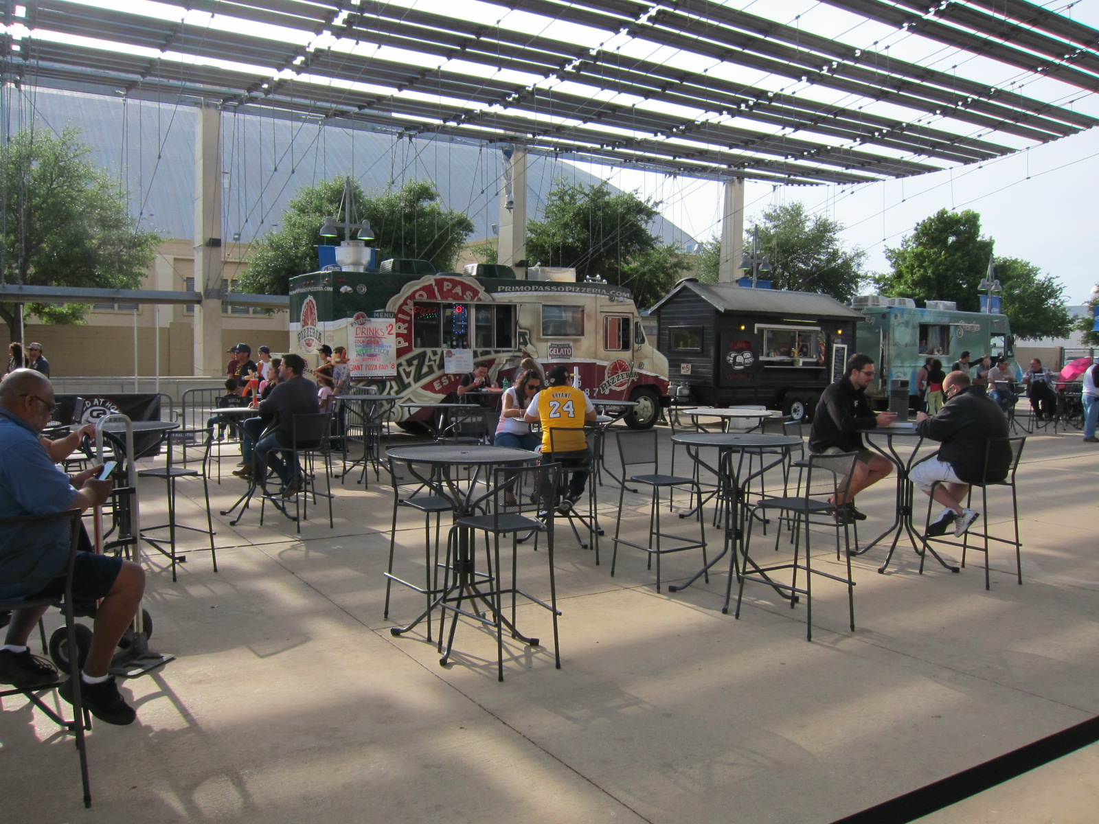 Outdoor Patio Seating at the AT&T Center