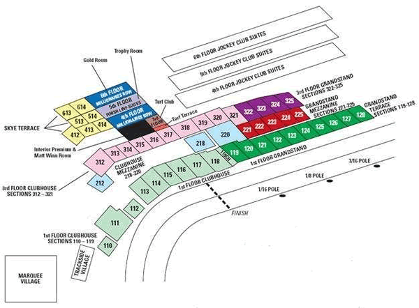 Kentucky Derby Seating Chart and Tickets - RateYourSeats.com
