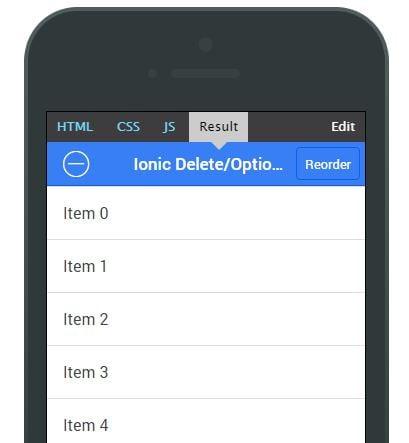 ionic lists