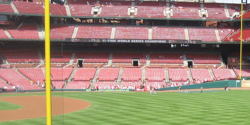 Shaded And Covered Seating At Busch Stadium