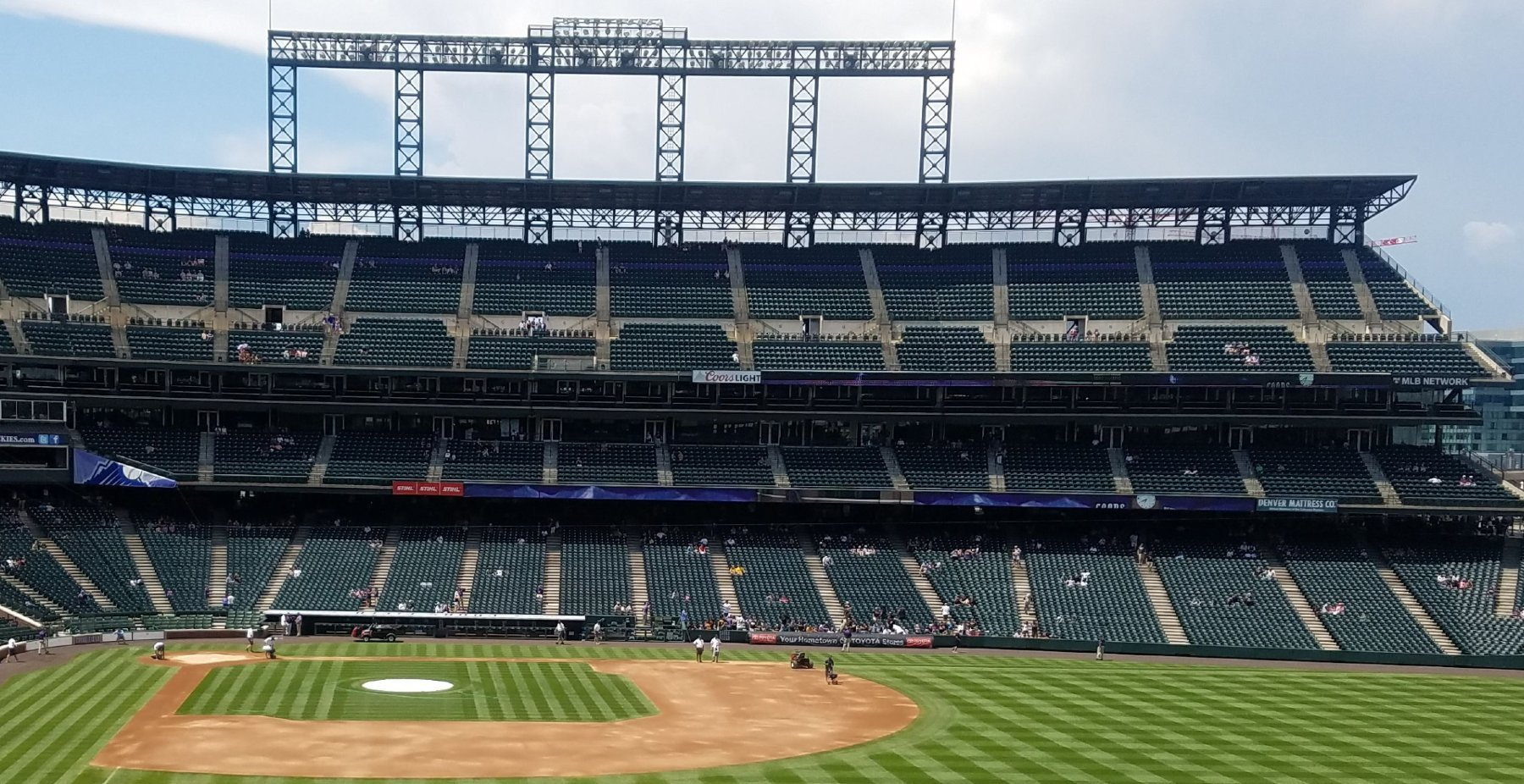 best shaded seats coors field