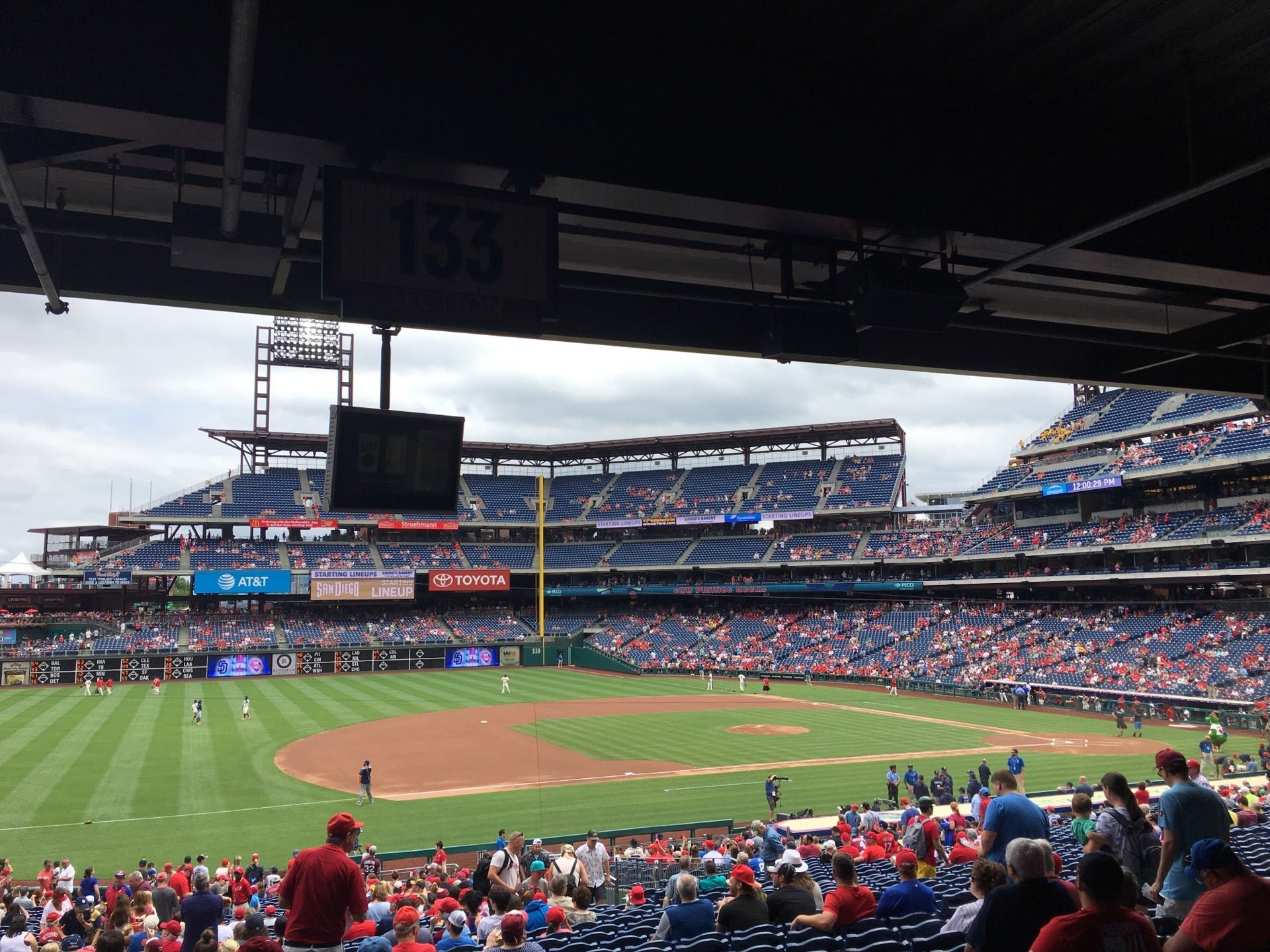 seats under overhang phillies