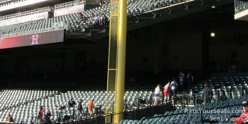 Right field shaded seating at Minute Maid Park