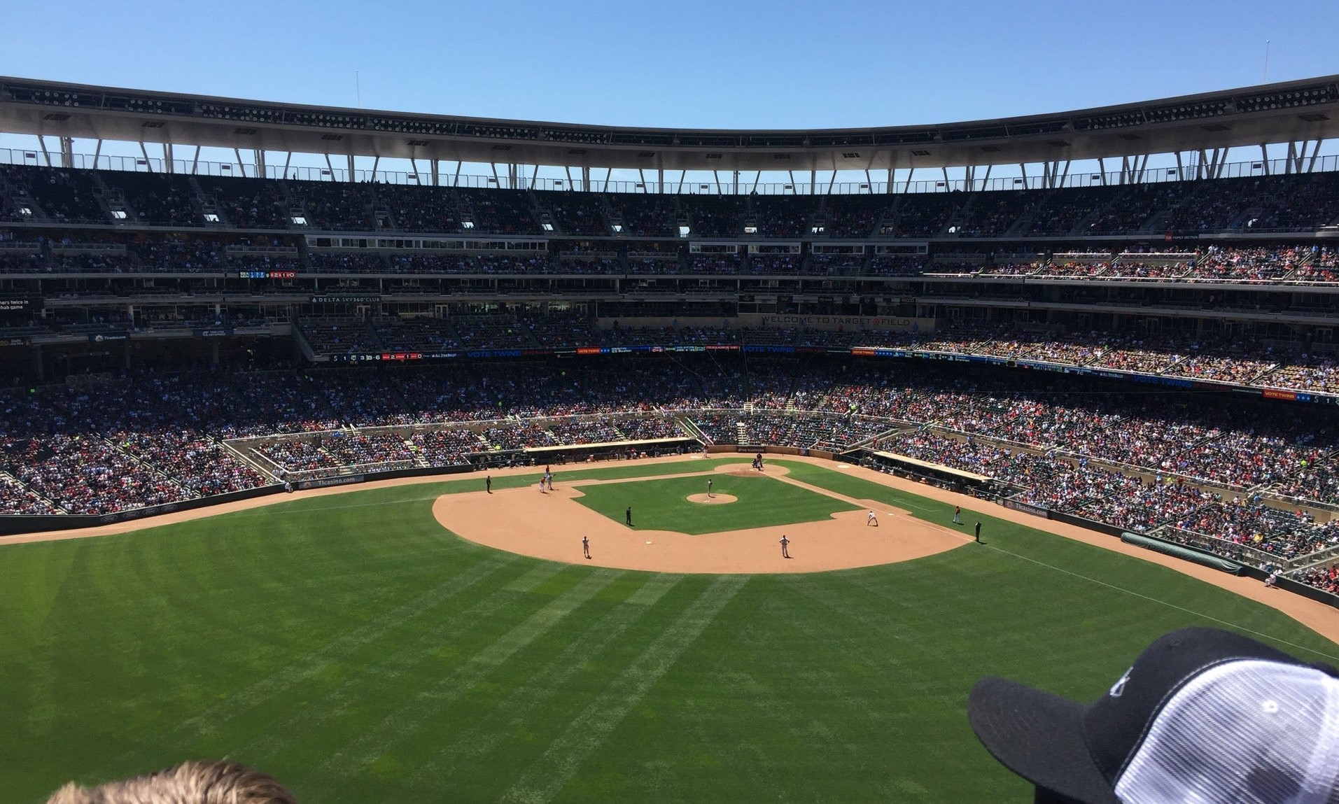 target field outfield seats