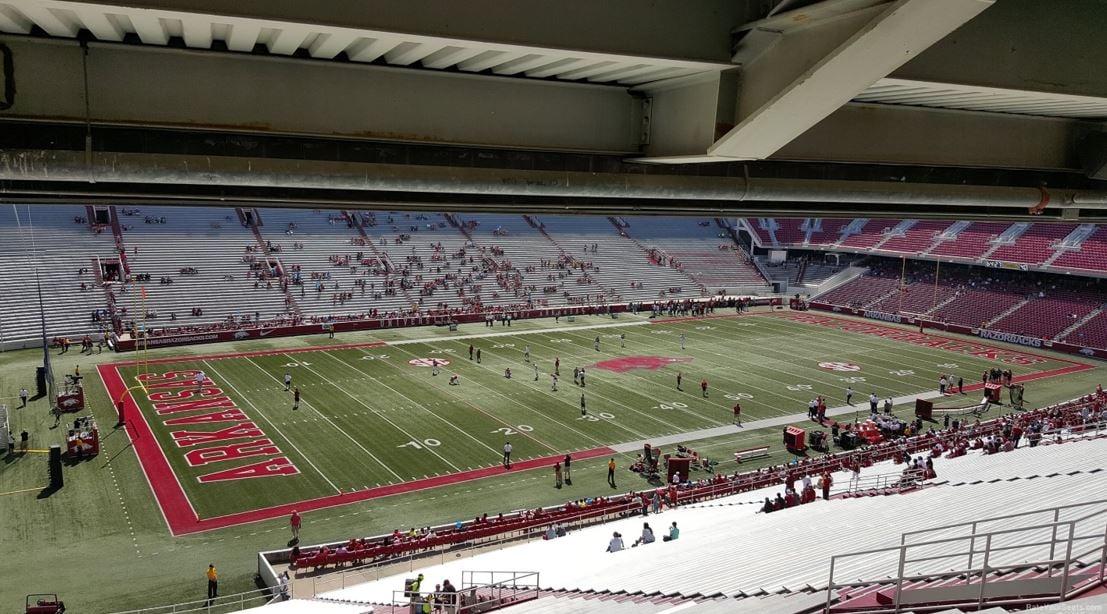 Arkansas football razorback stadium seating chart rateyourseats com
