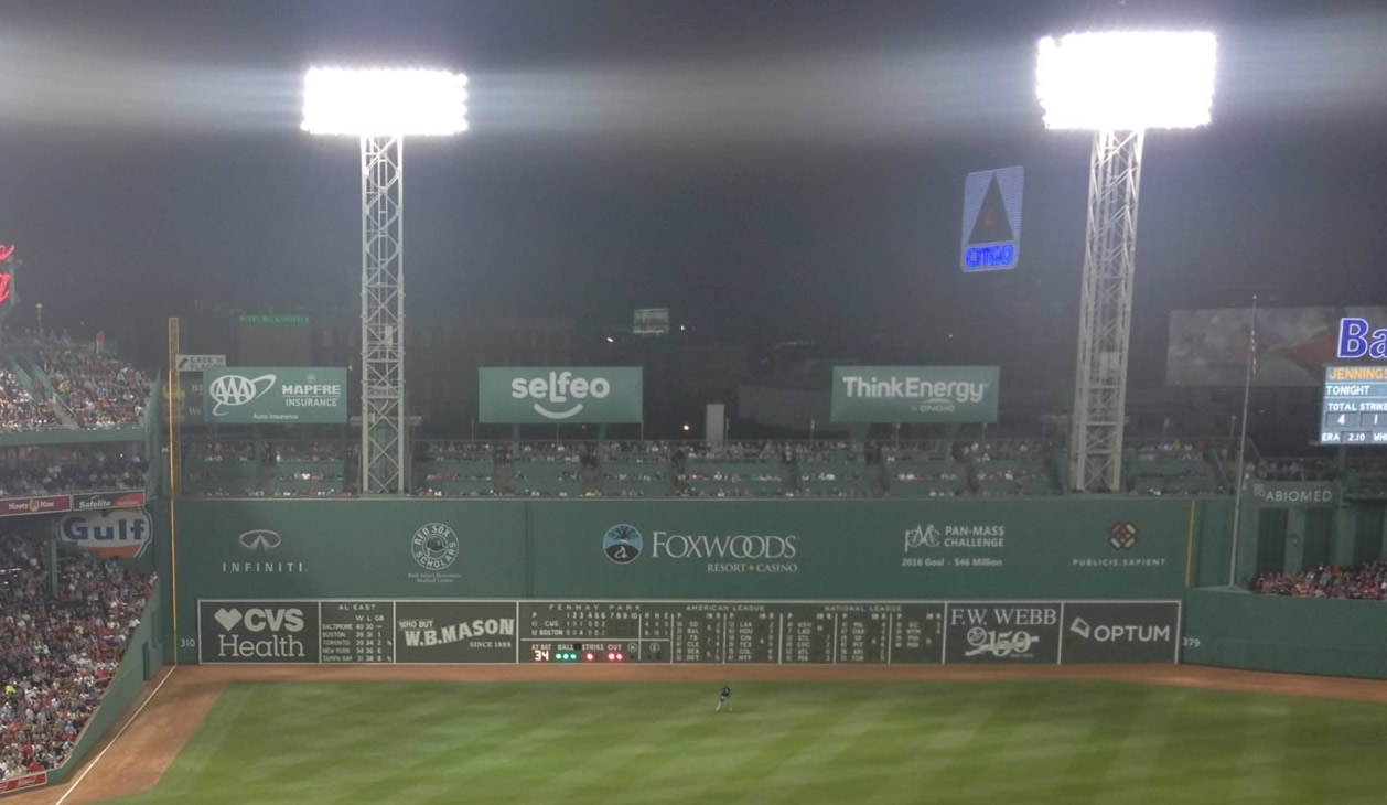 Fenway Park Getting a Ball