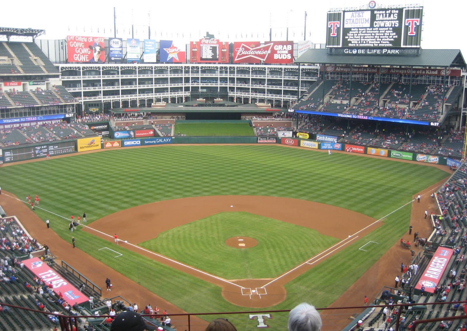 Globe Life Park Great Views of the Field