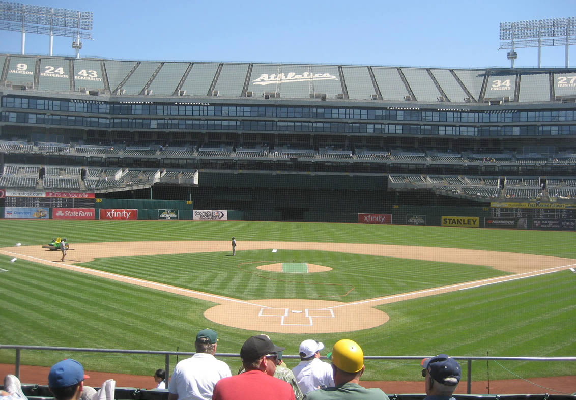 Oakland Coliseum Great Views of the Field