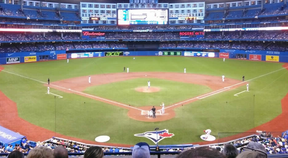 Rogers Centre Impressing a Guest