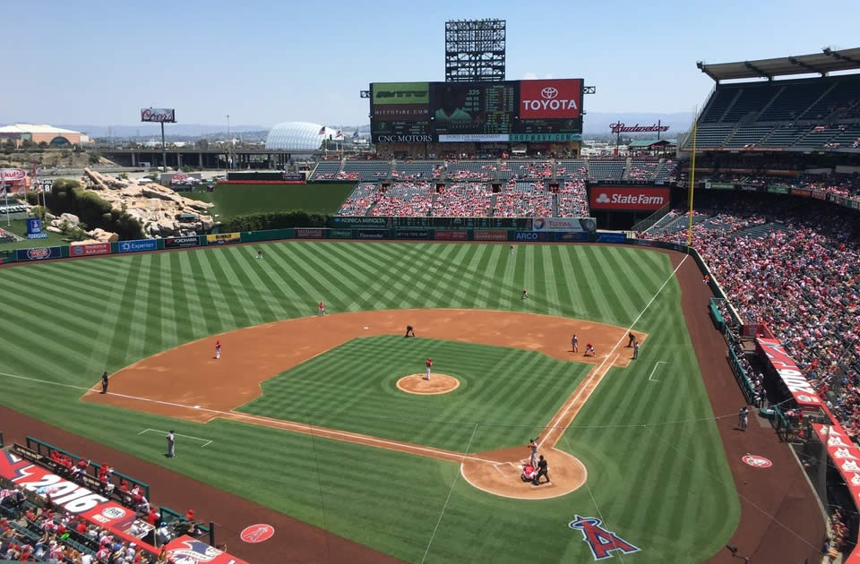 Angel Stadium Great Views of the Field