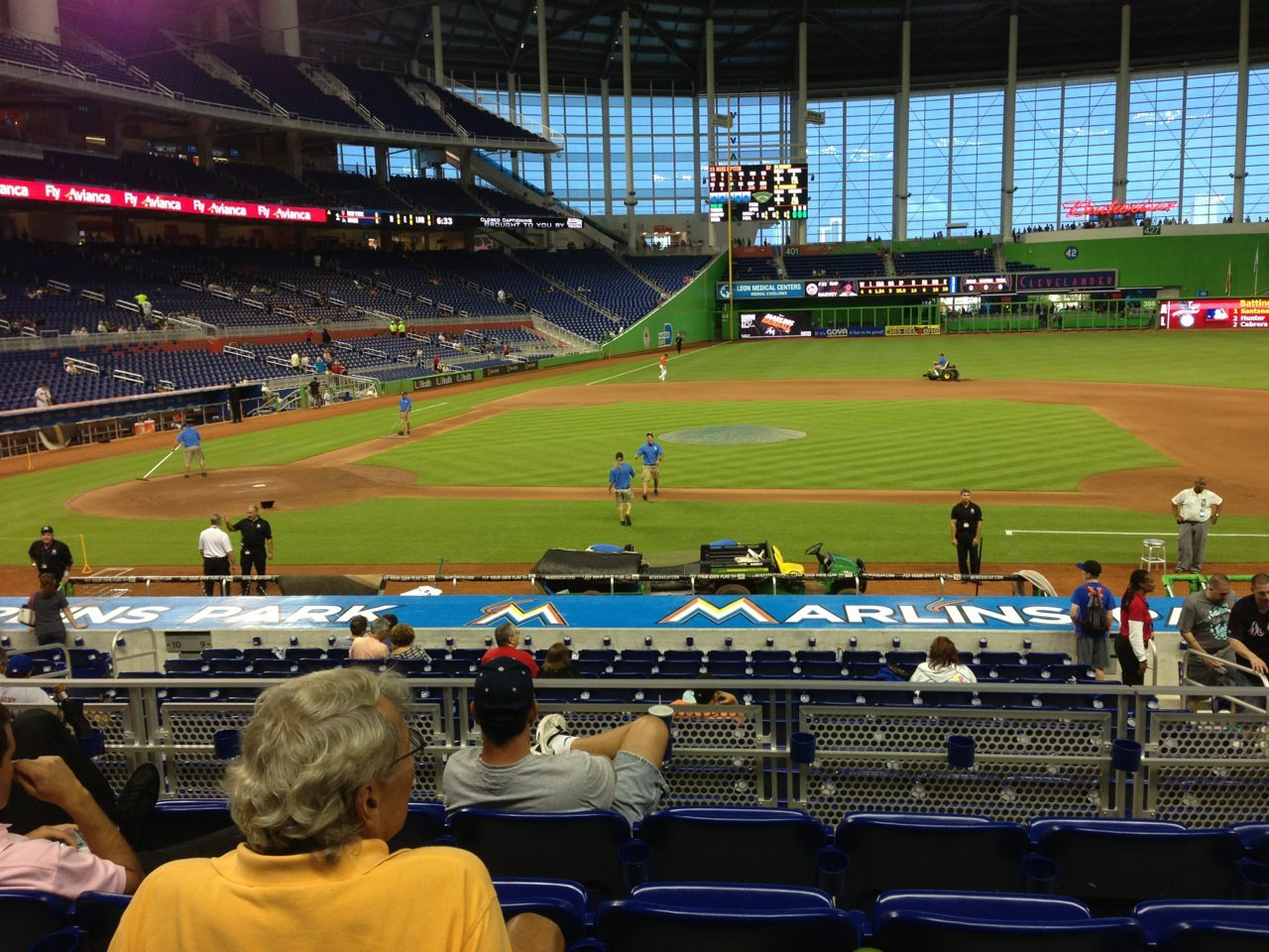 Marlins Park Great Views of the Field