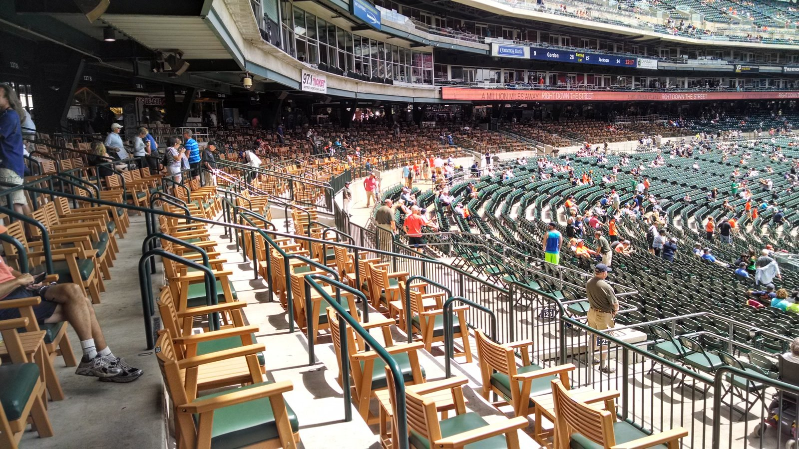 It S Difficult To Find A More Impressive Spot At Comerica Park Than The Premium Tigers Den Seats Located Just Above Lower Level Between Dugout