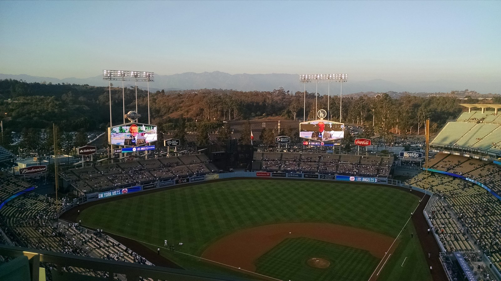 Dodger Stadium Views of the Mountains
