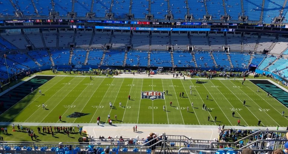 Bank of America Stadium Great Views of the Field