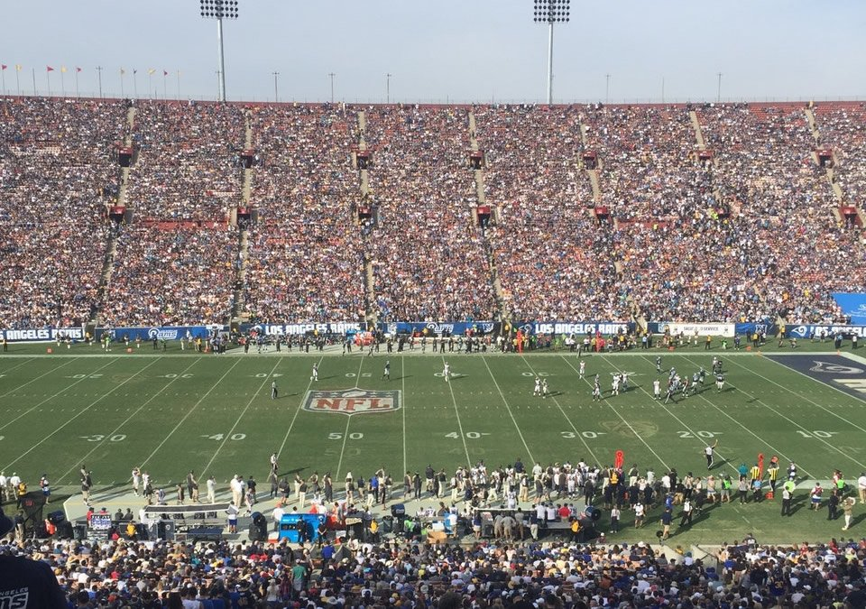 Los Angeles Memorial Coliseum Great Views of the Field