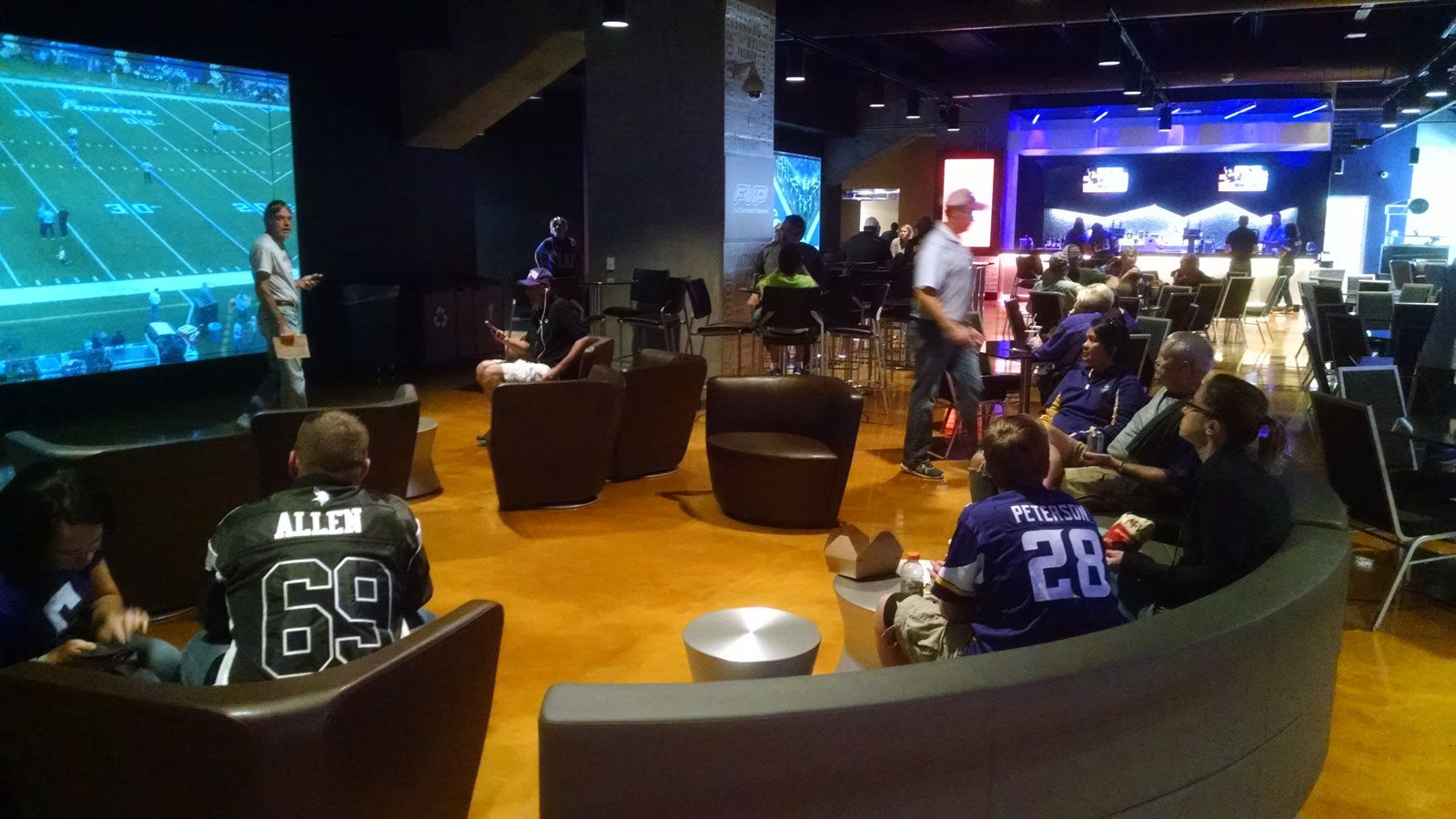 U.S. Bank Stadium Impressing a Guest