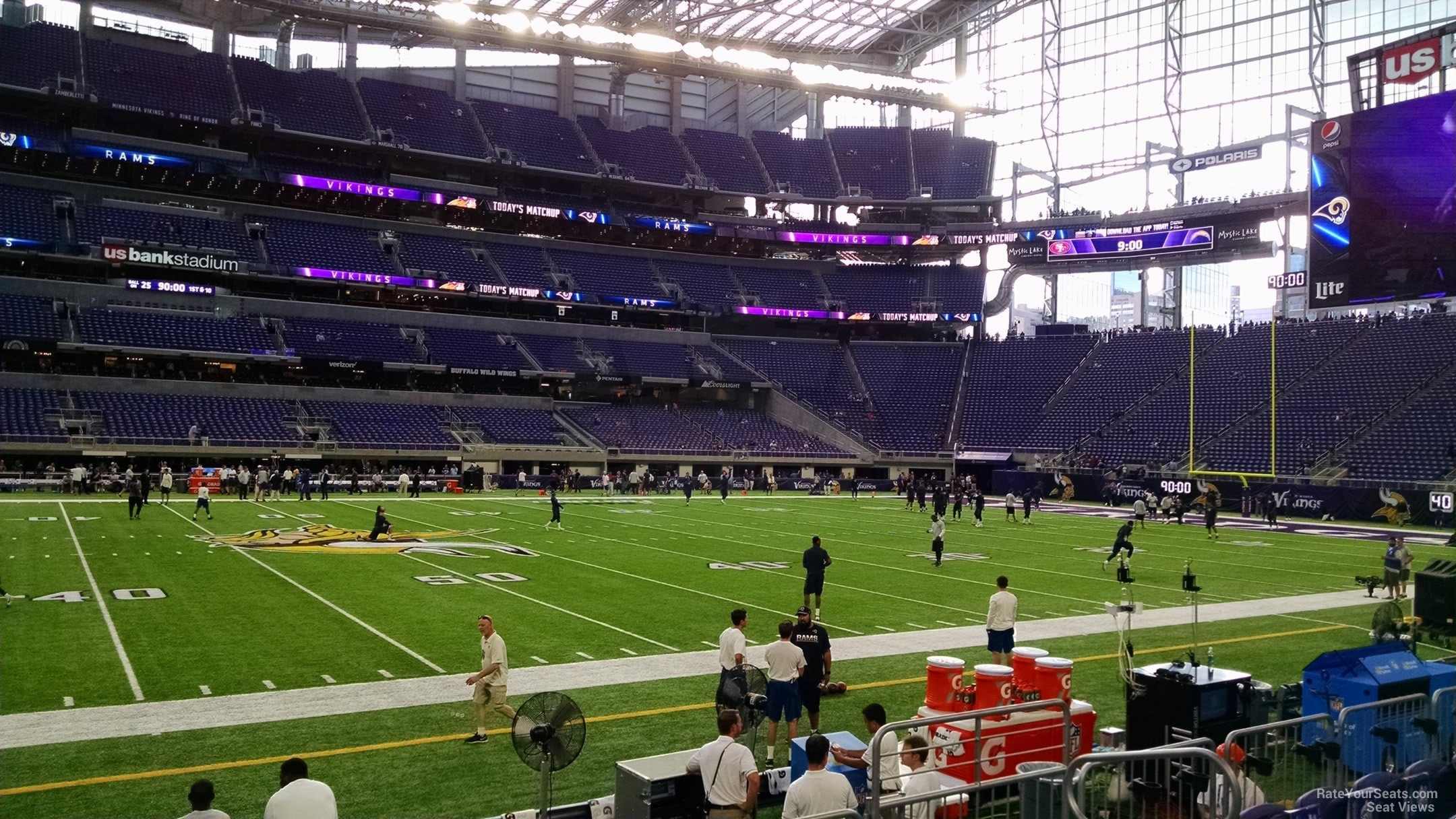 U.S. Bank Stadium Visiting Team Fans
