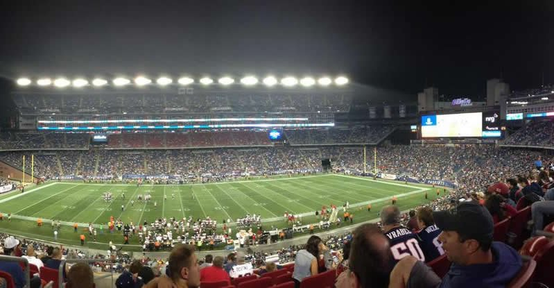 Gillette Stadium Impressing a Guest
