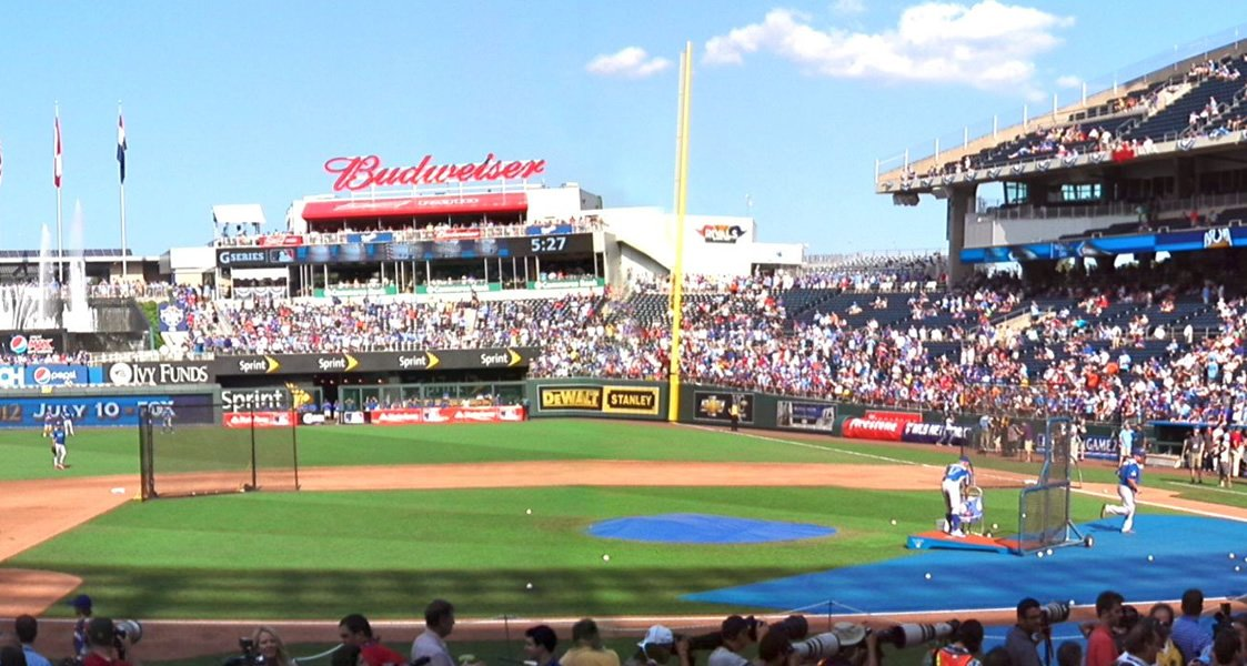 Sunny right field seats at the K
