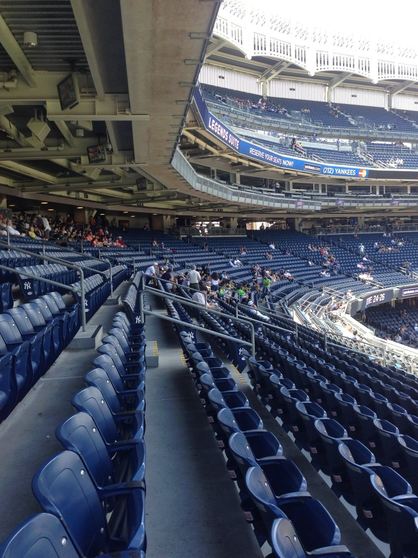 main level covered seating yankee stadium