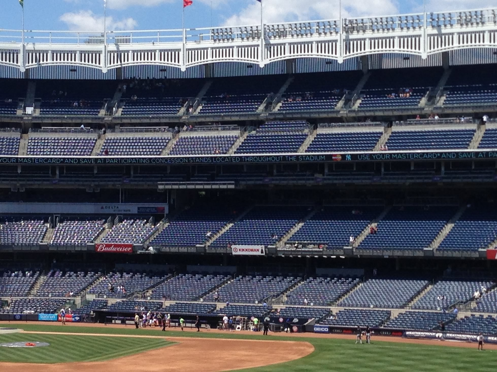 yankee stadium photo showing shaded seats