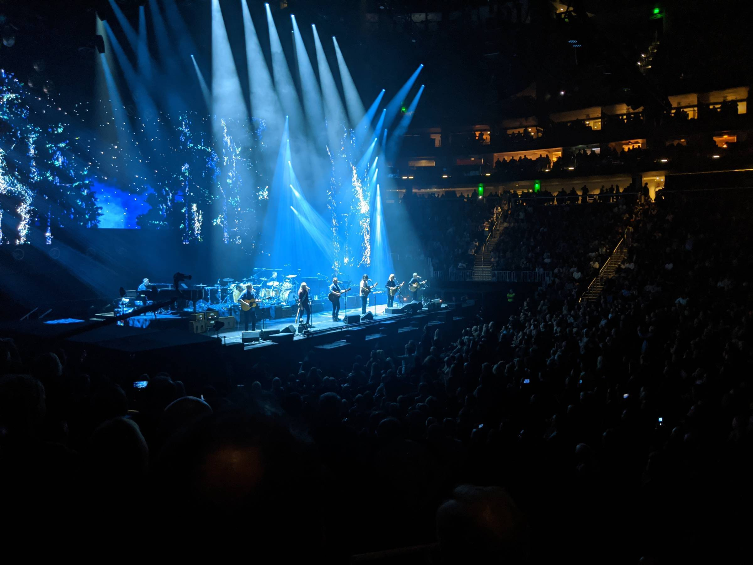 View of the Eagles concert