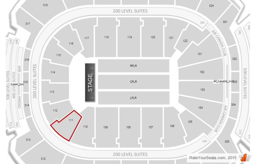 If Section 111 Is Behind The Stage At A Concert Can We Even See Artists Perform